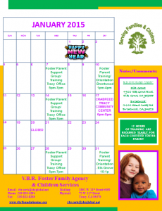 JANUARY CALENDER 2015